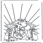 Christmas coloring pages - Nativity story 11