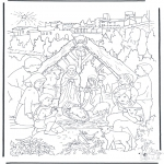 Christmas coloring pages - Nativity story 14