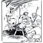 Christmas coloring pages - Nativity story 3