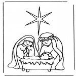 Christmas coloring pages - Nativity story 5