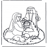 Christmas coloring pages - Nativity story 9