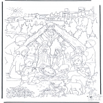 Bible coloring pages - Near the manger