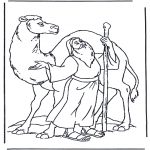 Bible coloring pages - Noah and a camel
