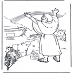 Bible coloring pages - Noah and the rainbow