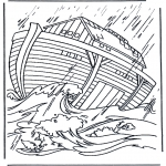 Bible coloring pages - Noa's ark 2