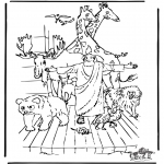 Bible coloring pages - Noa's ark 3