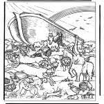 Bible coloring pages - Noa's ark 4