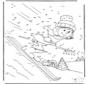 Number drawing ski