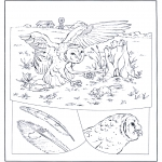 Animals coloring pages - Oal chasing
