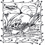 Animals coloring pages - On a boat 1