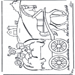 Kids coloring pages - On a farmerscar