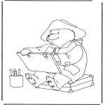Kids coloring pages - Paddington bear 1