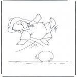 Kids coloring pages - Paddington bear 11