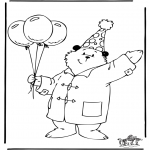 Kids coloring pages - Paddington bear 3