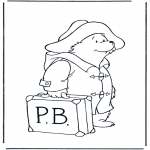 Kids coloring pages - Paddington bear 7