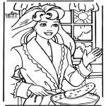 Comic Characters - Pancake baking