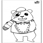 Animals coloring pages - Panda 1