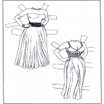 Crafts - Paper doll Clothing 1