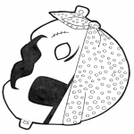 Crafts - Paper mask pirate