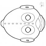 Crafts - Paper mask ufo