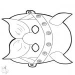 Crafts - Paper mask Viking