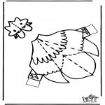 Crafts - Papercraft chicken