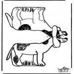 Crafts - Papercraft dog