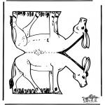 Crafts - Papercraft donkey