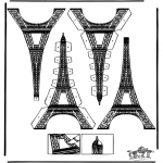 Crafts - Papercraft Eifel tower