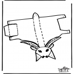 Crafts - Papercraft goat 1
