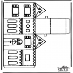 Christmas coloring pages - Papercraft xmashouse 1