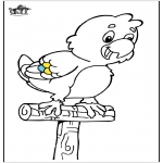 Animals coloring pages - Parrot 5