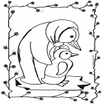 animals coloring pages - Penguin 2