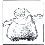 Animals coloring pages - Penguin 3