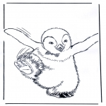 animals coloring pages - Penguin 4