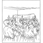 Bible coloring pages - Pentecost 2