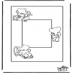 Crafts - Photoframe Babar