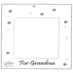 Crafts - Photoframe for grandma