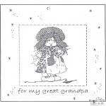 Crafts - Photoframe for grandpa