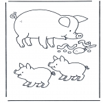 Animals coloring pages - Pig