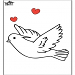 Animals coloring pages - Pigeon 1