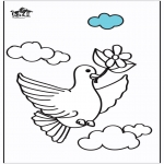 Animals coloring pages - Pigeon 2