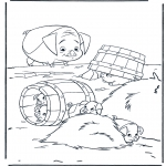 Animals coloring pages - Pigs 2