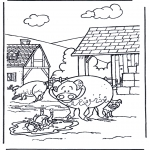 Animals coloring pages - Pigs 3