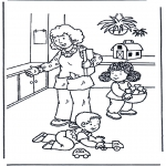 Kids coloring pages - Play with toys