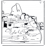 animals coloring pages - Polar bear and sea lion