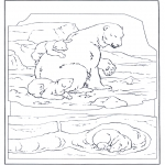 Animals coloring pages - Polar bear