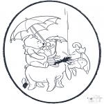 Crafts pricking cards - Pooh prickingcard 1