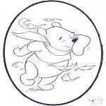 Crafts pricking cards - Pooh prickingcard 2
