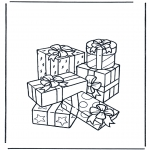 Theme coloring pages - Presents